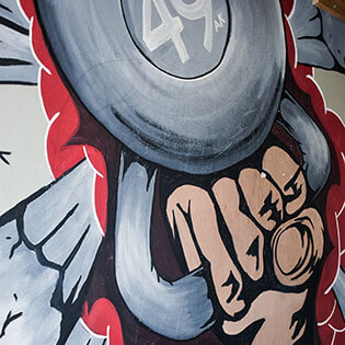 Picture of mural on the wall at CrossFit Alaska.