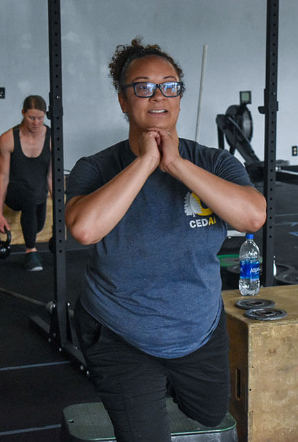 Members work out at CrossFit Alaska.